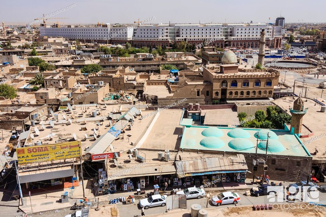 Old bazaar overview with Nashtiman Mall in background, an 8000 store