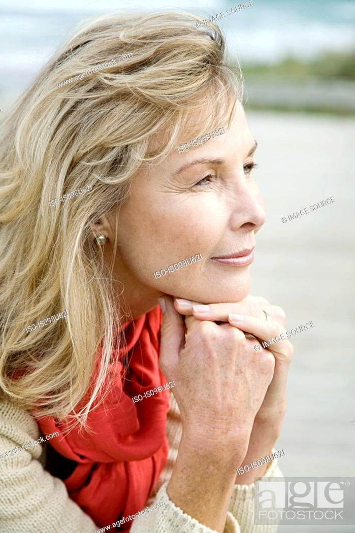 Stock Photo: Outdoor portrait of a woman.