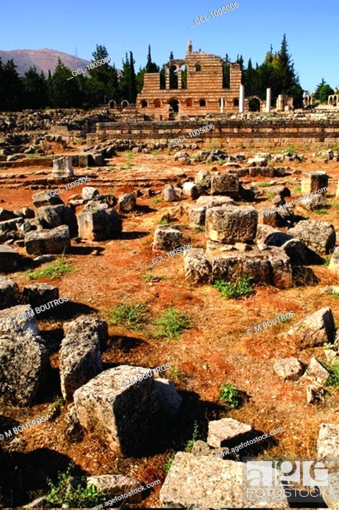 Stock Photo: Anjar fortress, Lebanon.