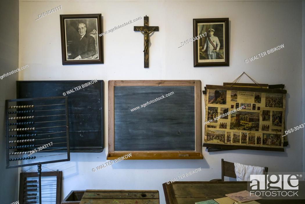 Stock Photo: Portugal, Azores, Sao Miguel Island, Capelas, Oficina-Museu M. J. Melo, ethnographic museum in the home of a collector of island life memorabilia.