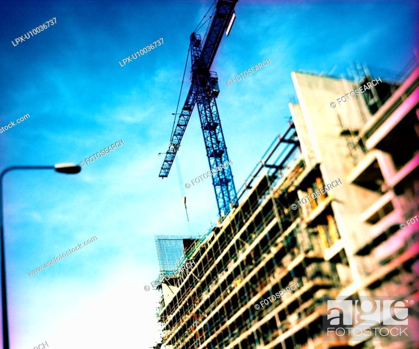 Stock Photo: Abstract image of a construction site in progress.
