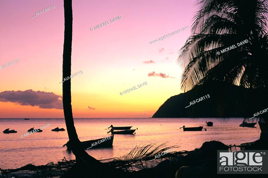 Stock Photo: Caribbean - Martinique - Arlet's coves - Grande Anse.