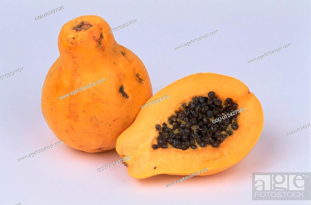 Stock Photo: Half Of Papaya.