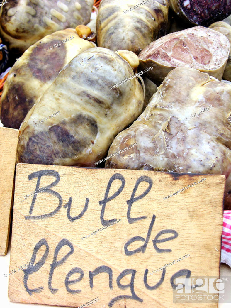 Stock Photo: Sausage for sale. Fira de Sant Ponç, Catalonia, Spain.