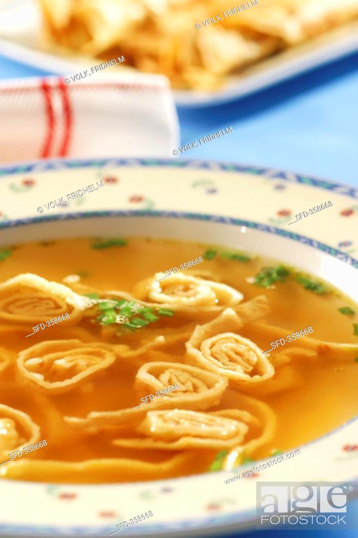 Stock Photo: Pancake soup.