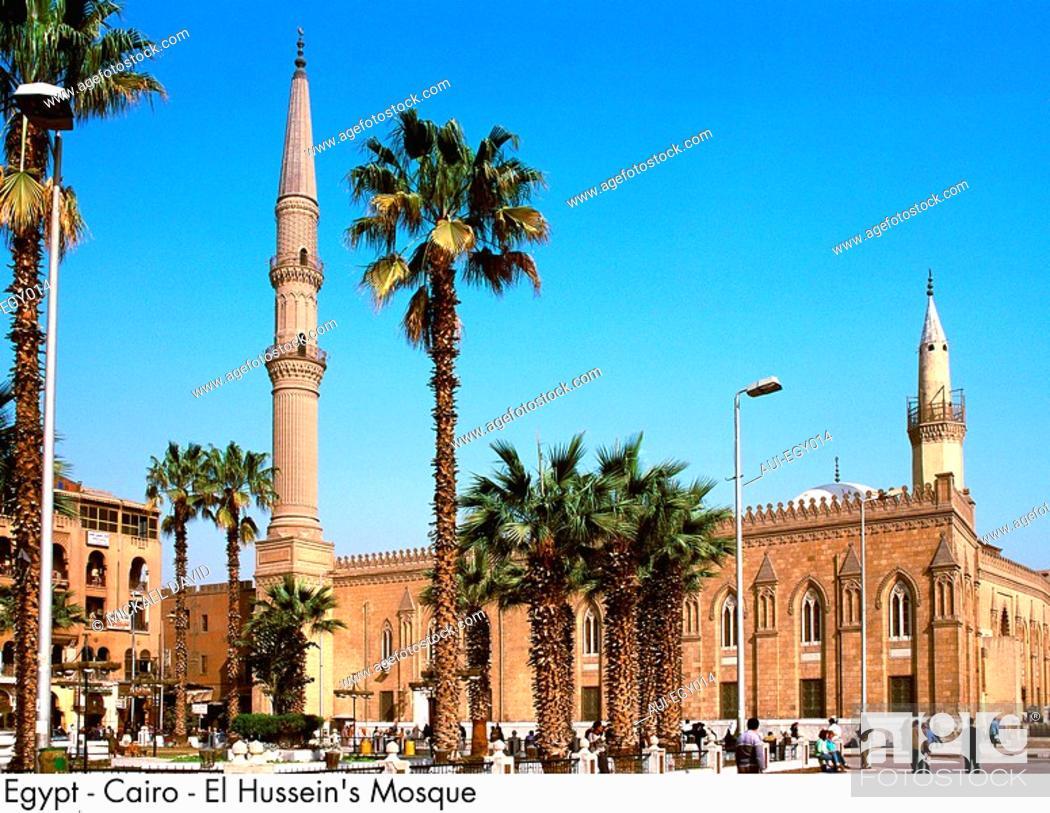 Stock Photo: Egypt - Cairo - El Hussein Mosque.