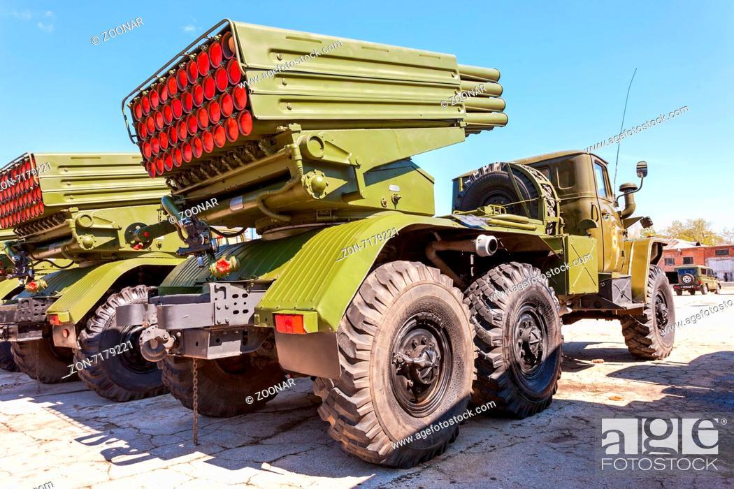 SAMARA, RUSSIA - MAY 8, 2014: BM-21 Grad 122-mm Multiple
