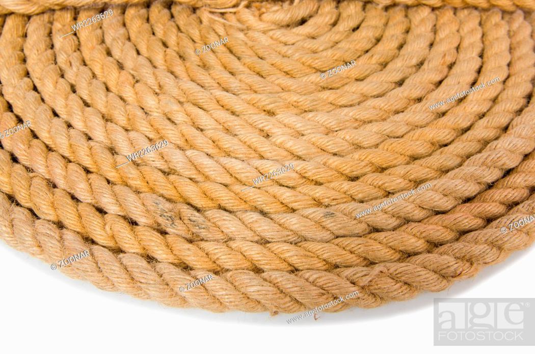 Imagen: Concept with long hemp rope.