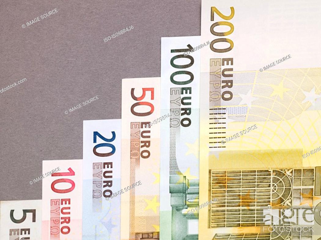 Stock Photo: Euro banknotes.