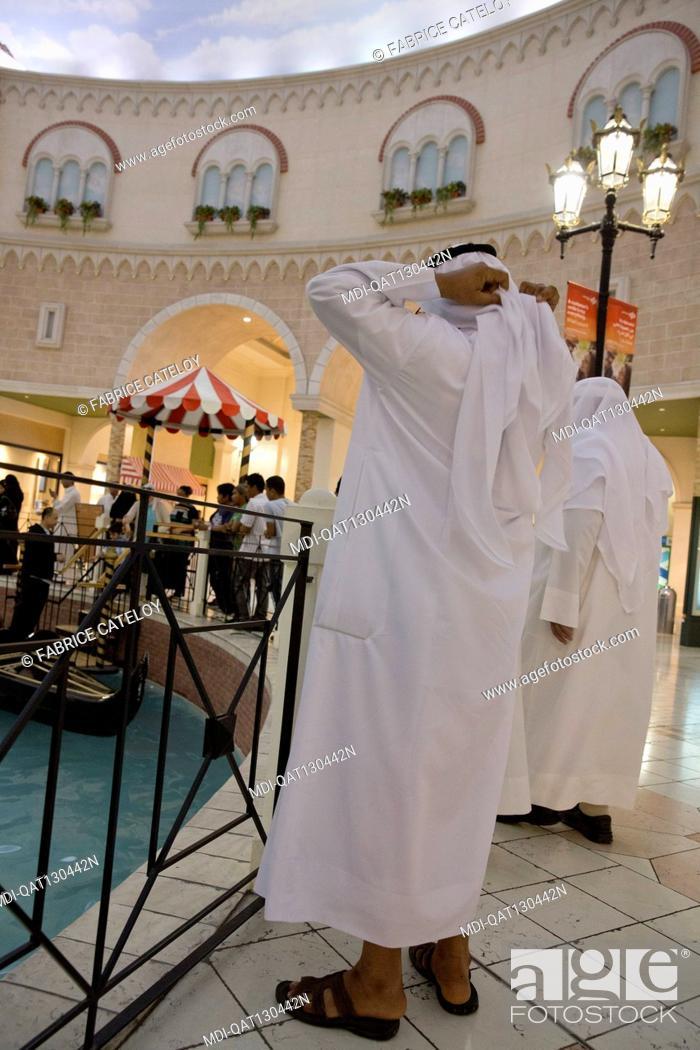 Stock Photo: Qatar - Doha - Villagio - Villaggio, gondolania theme park and shopping mall, with shops, supermarket, indoor theme park, ice rink in Aspire Zone.