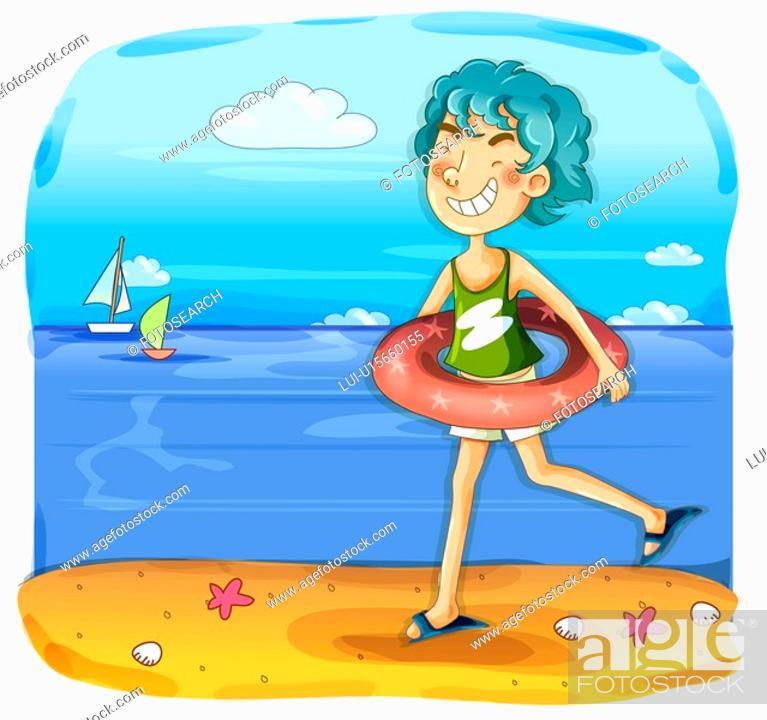 Stock Photo: sky, nature, summer, beach, sea, trip.