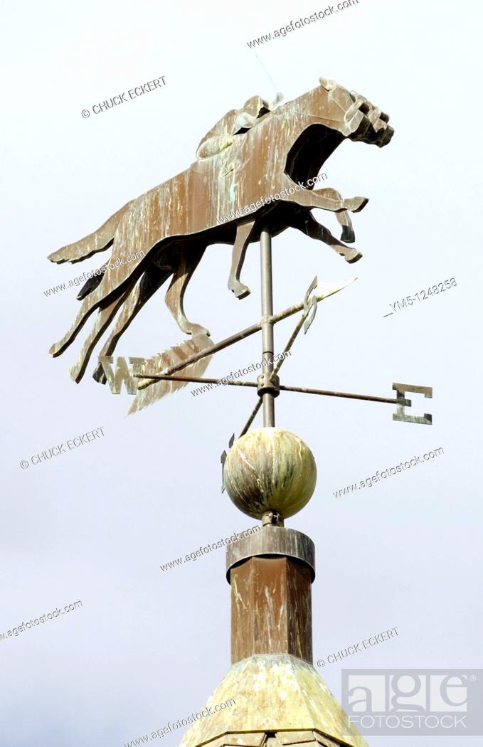 Stock Photo: Horse Racing Weather Vane.