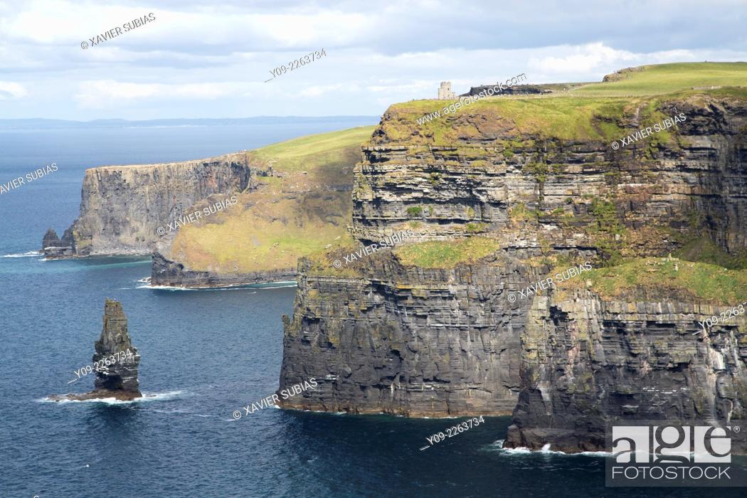 Stock Photo: Cliffs of Moher, County Clare, Munster province, Ireland.