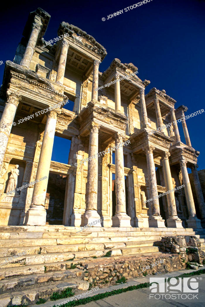 Stock Photo: Library of Celsus, ruins of Ephesus. Turkey.