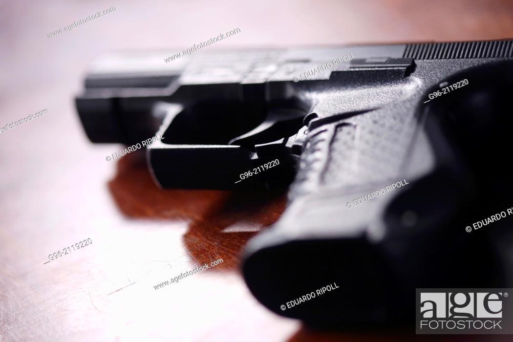 Stock Photo: Detail of a gun.