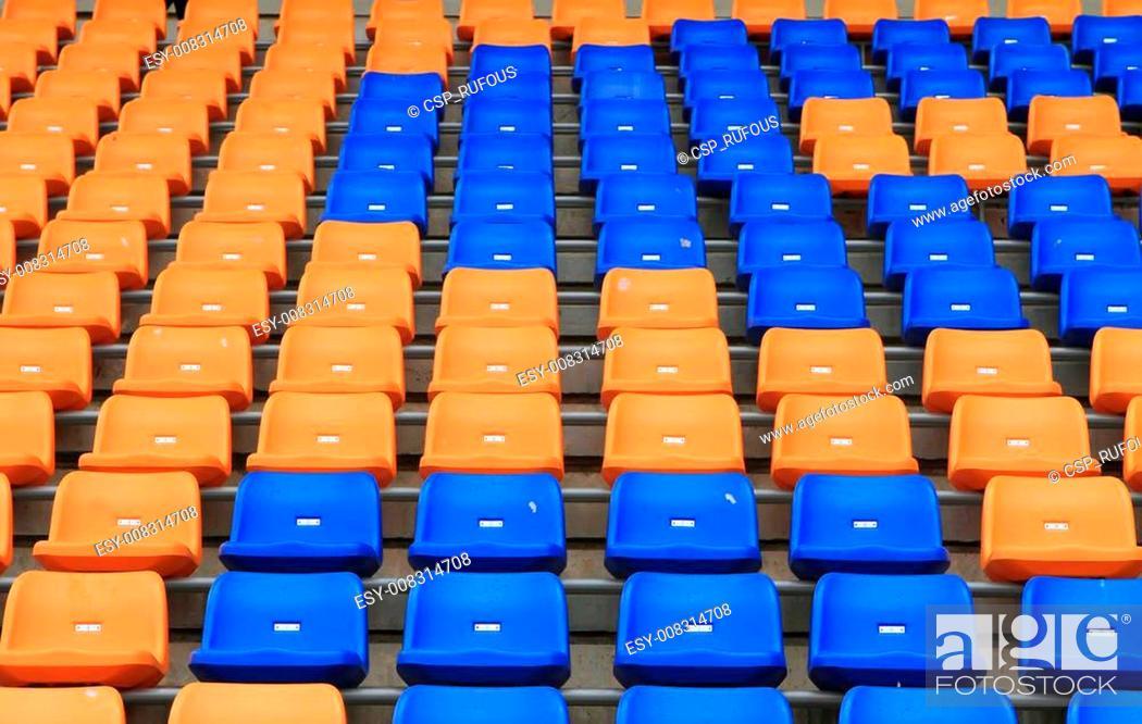 Stock Photo: Stadium Chair.