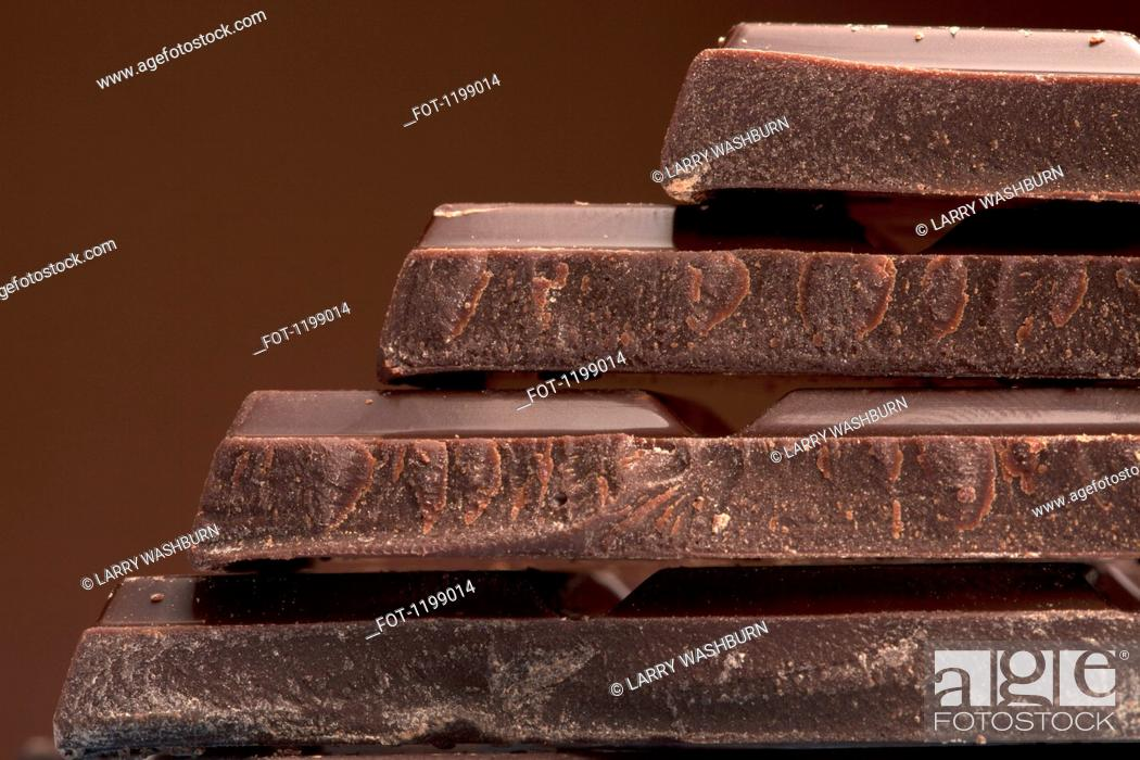 Stock Photo: Detail of a stack of chocolate.