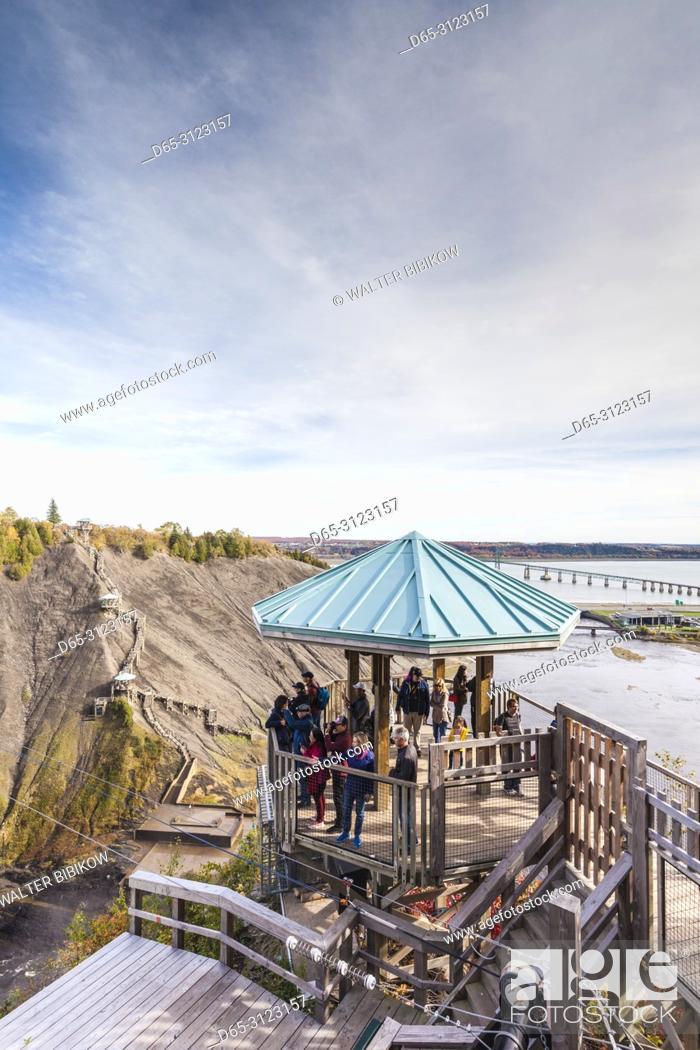 Stock Photo: Canada, Quebec, Quebec City, Montmorency, Chutes Montmorency, waterfalls, Belvedere de la Baronne, observation area.