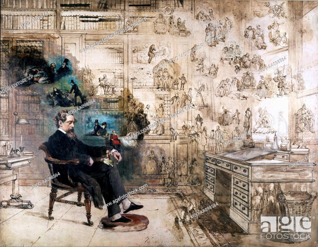Imagen: Dickens' dream, by Robert William Buss, 19th Century.
