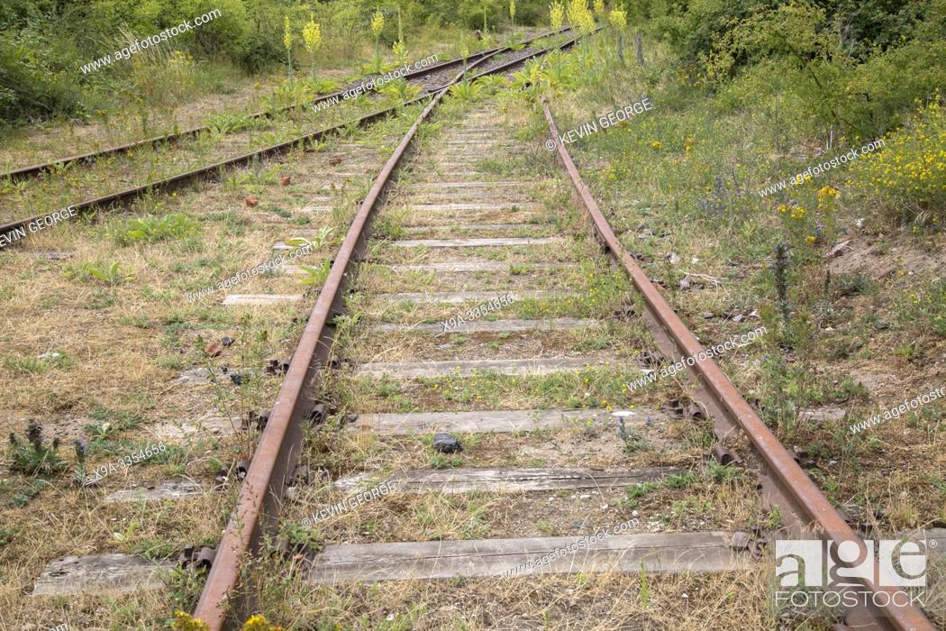 Stock Photo: Abandoned Railway Track, Malmo, Sweden.