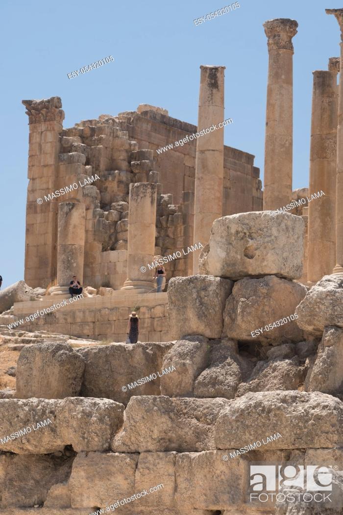 Photo de stock: Jerash (Gerasa), ancient roman capital and largest city of Jerash Governorate, Jordan, .