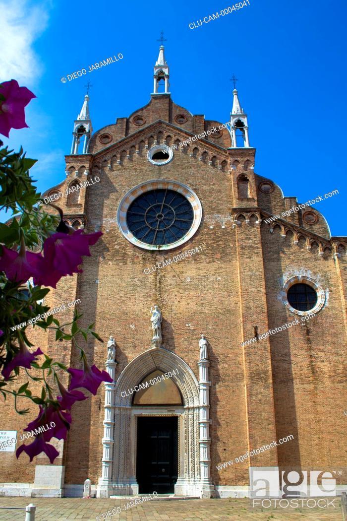 Stock Photo: Basilica of Santa Maria dei Frari, San Polo, Venice, Veneto, Italy, Western Europe.