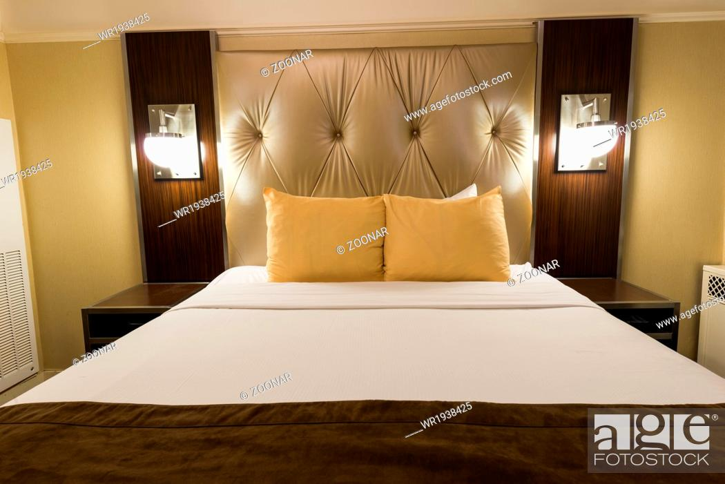 Stock Photo: New York - DECEMBER 20: Room in New Yorker Hotel on December 20, 2014 in New York, USA. New Yorker Hotel is one of the oldest hotels in New York.