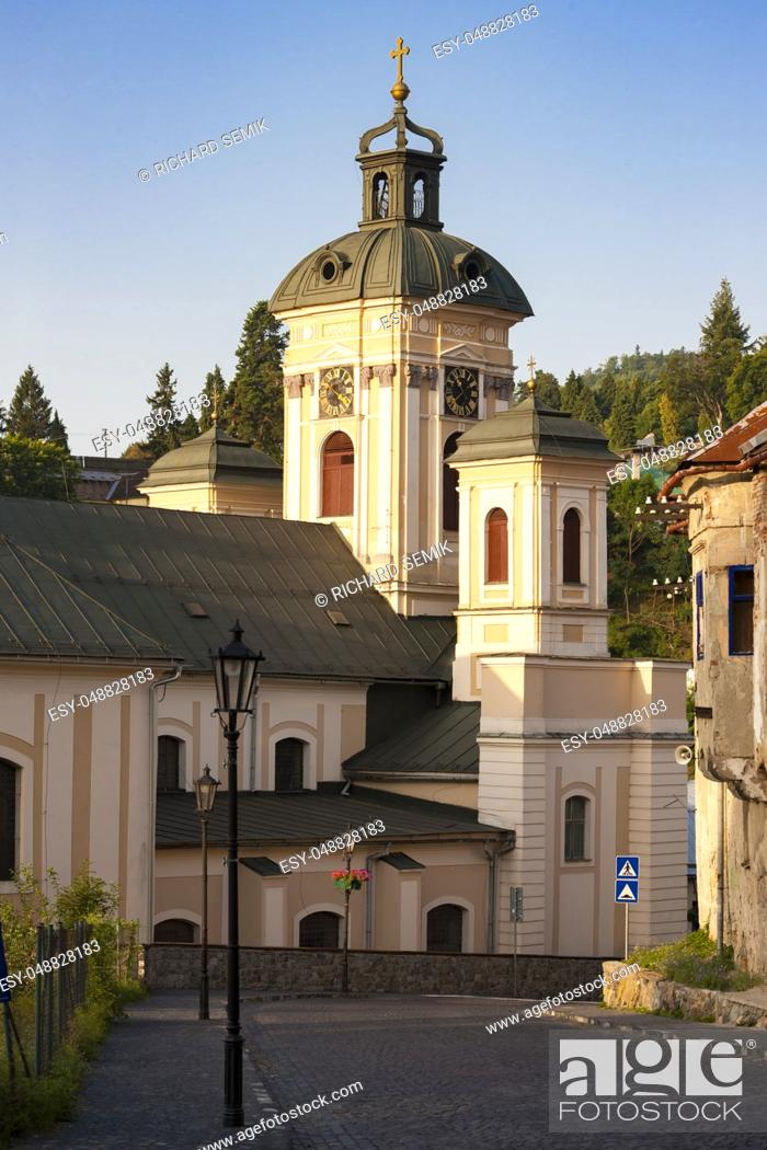 Stock Photo: Church of St. Mary, Banska Stiavnica, Slovakia.