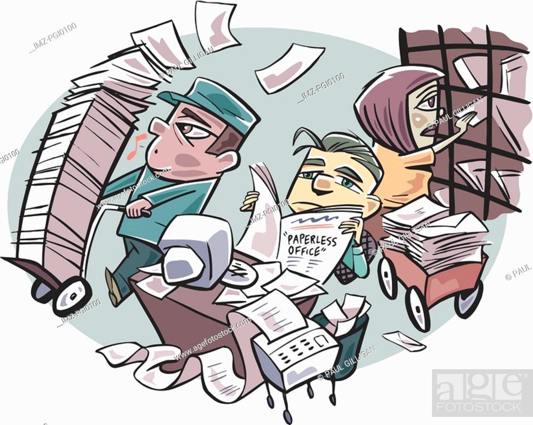 Stock Photo: paperless office.