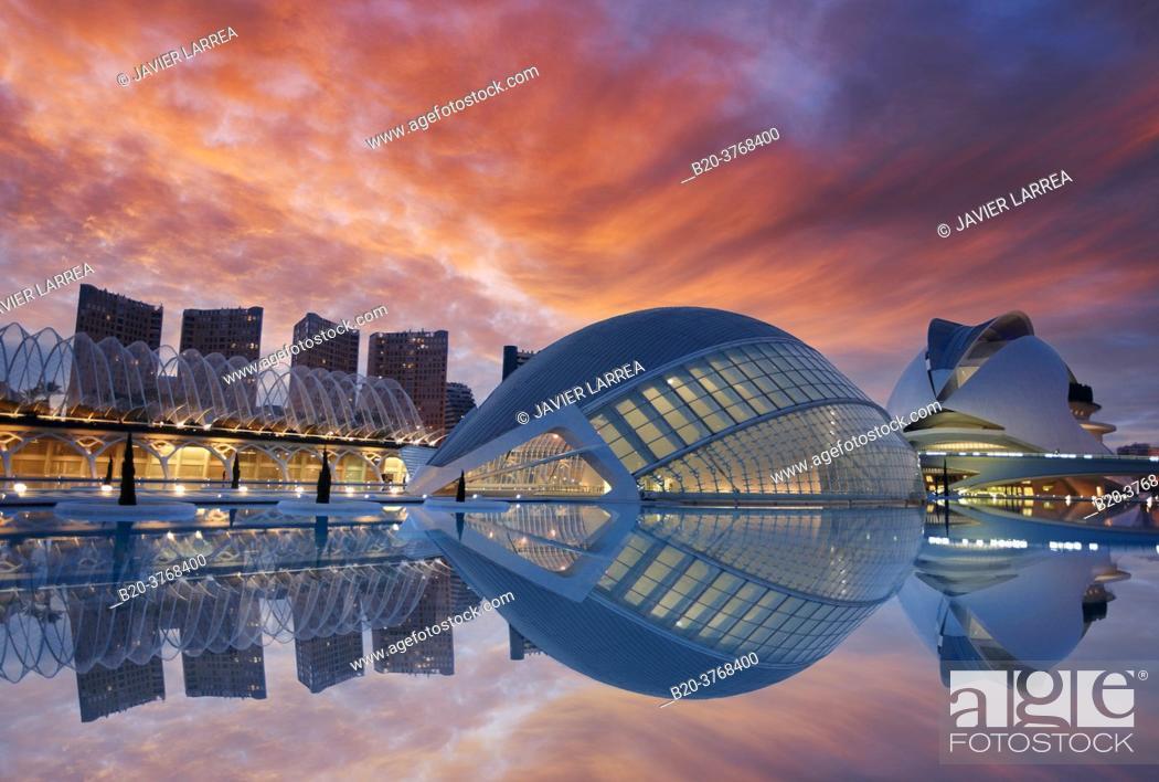 Imagen: LÂ'Hemispheric, Palacio de las Artes, Ciudad de las Artes y las Ciencias, Valencia, Comunidad Valenciana, España.