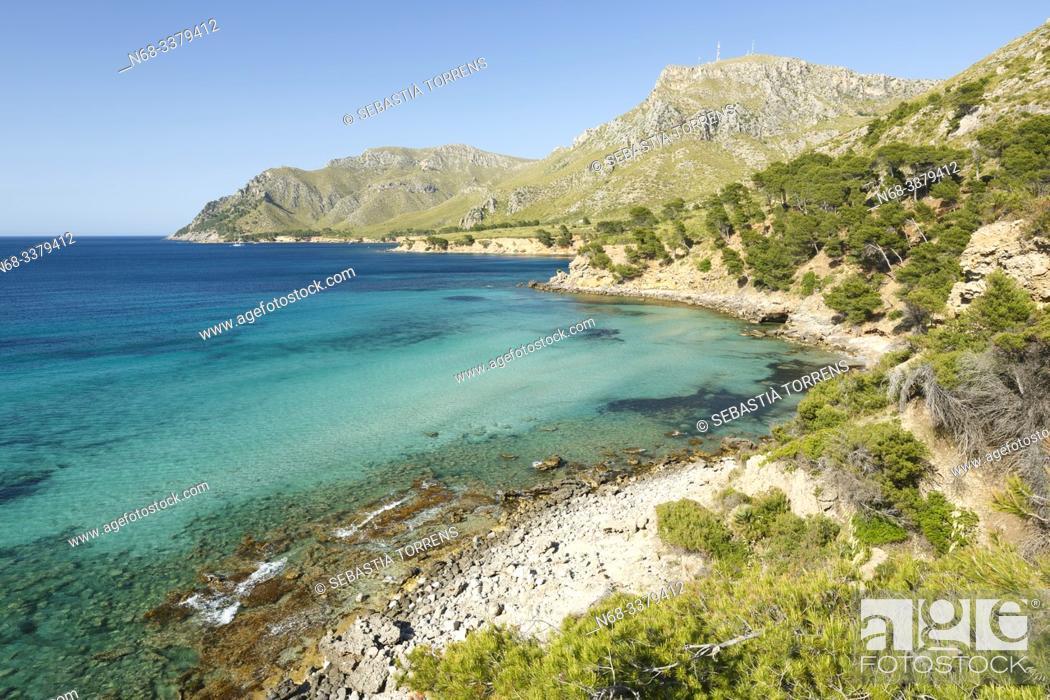 Stock Photo: View of Na Clara, coast of Artà, Majorca, Spain.