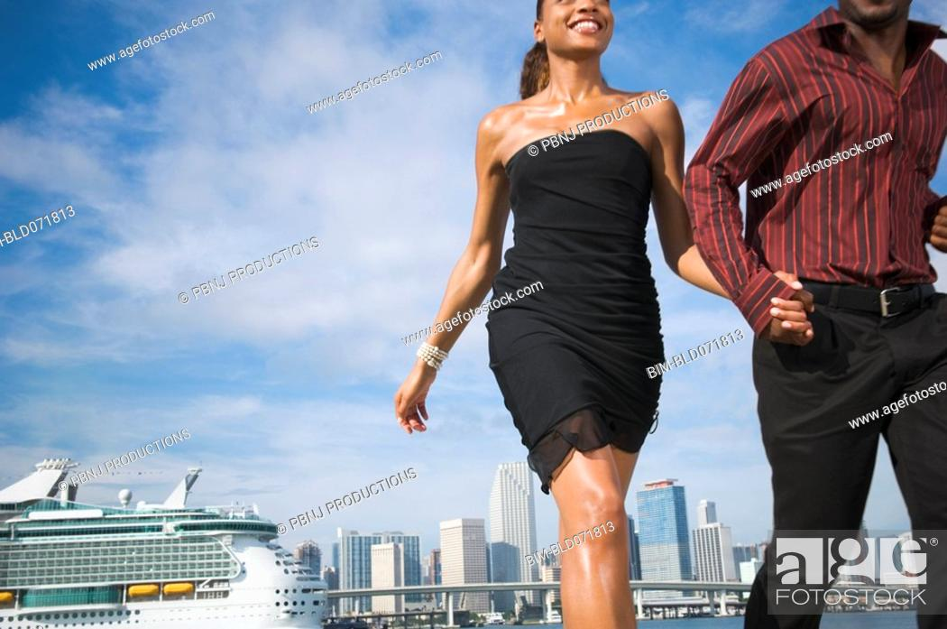 Stock Photo: African American couple holding hands.