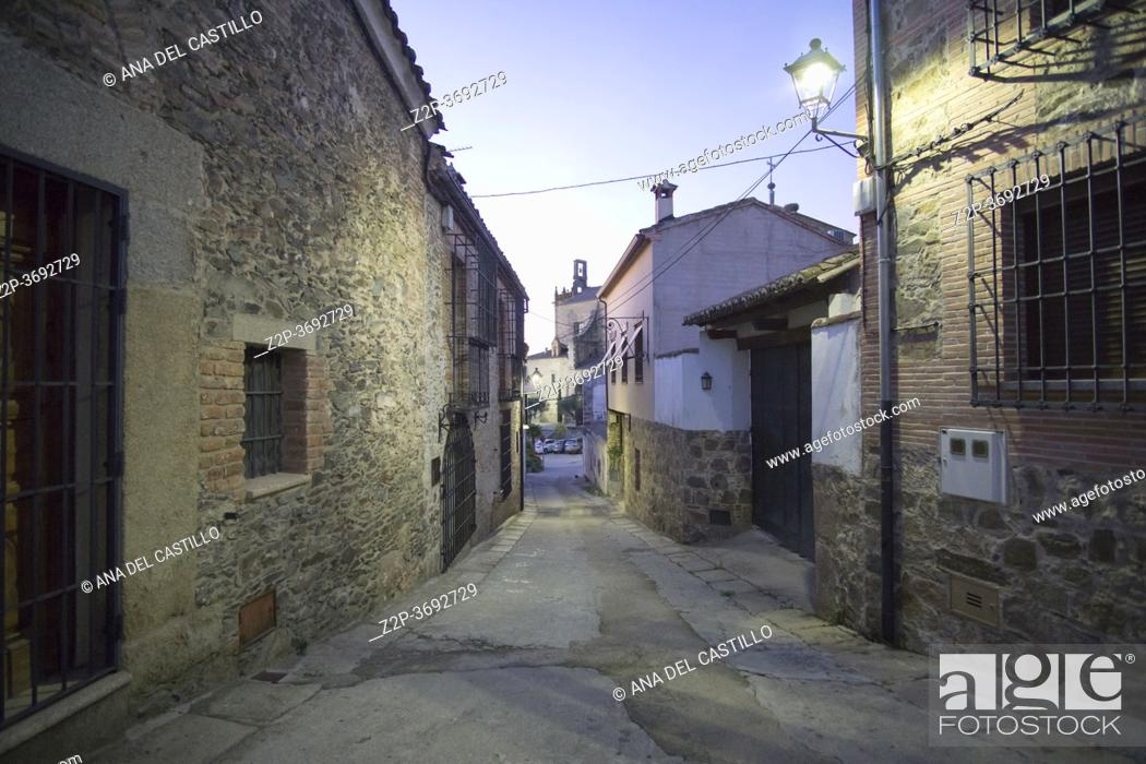 Stock Photo: Oropesa in Toledo province on October 26, 2019.