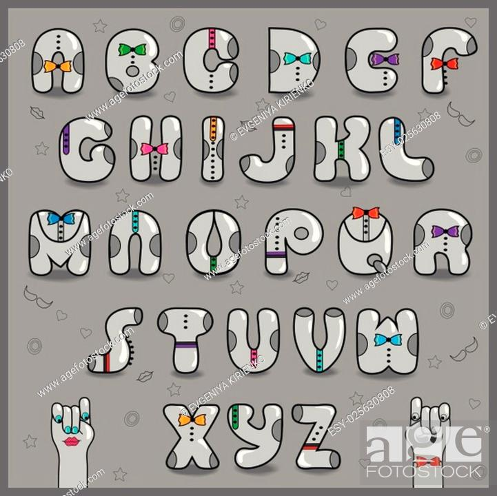 Hipster Alphabet Vintage Artistic Font Dressed Letters Retro Shape Stock Vector Vector And Low Budget Royalty Free Image Pic Esy 025630808 Agefotostock
