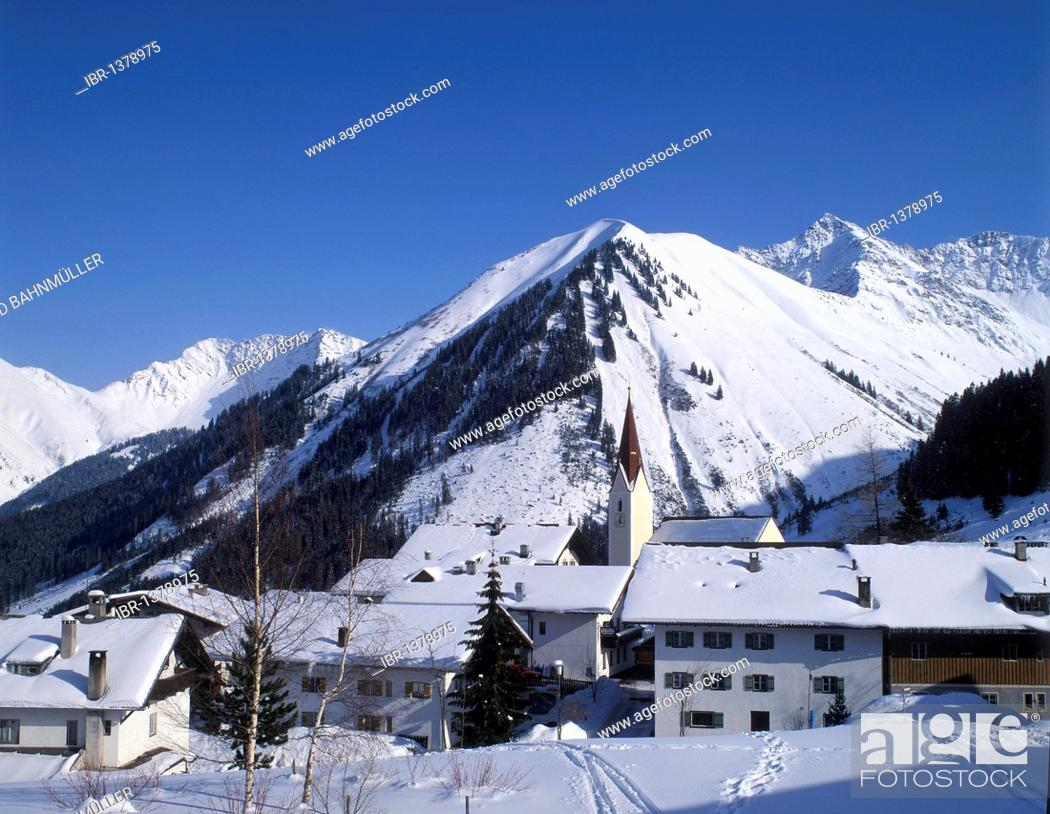 Stock Photo: Berwang near Reutte, Tyrol, Austria, Europe.