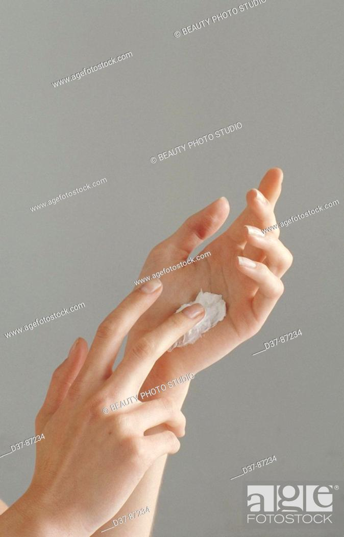 Stock Photo: Care of hands.