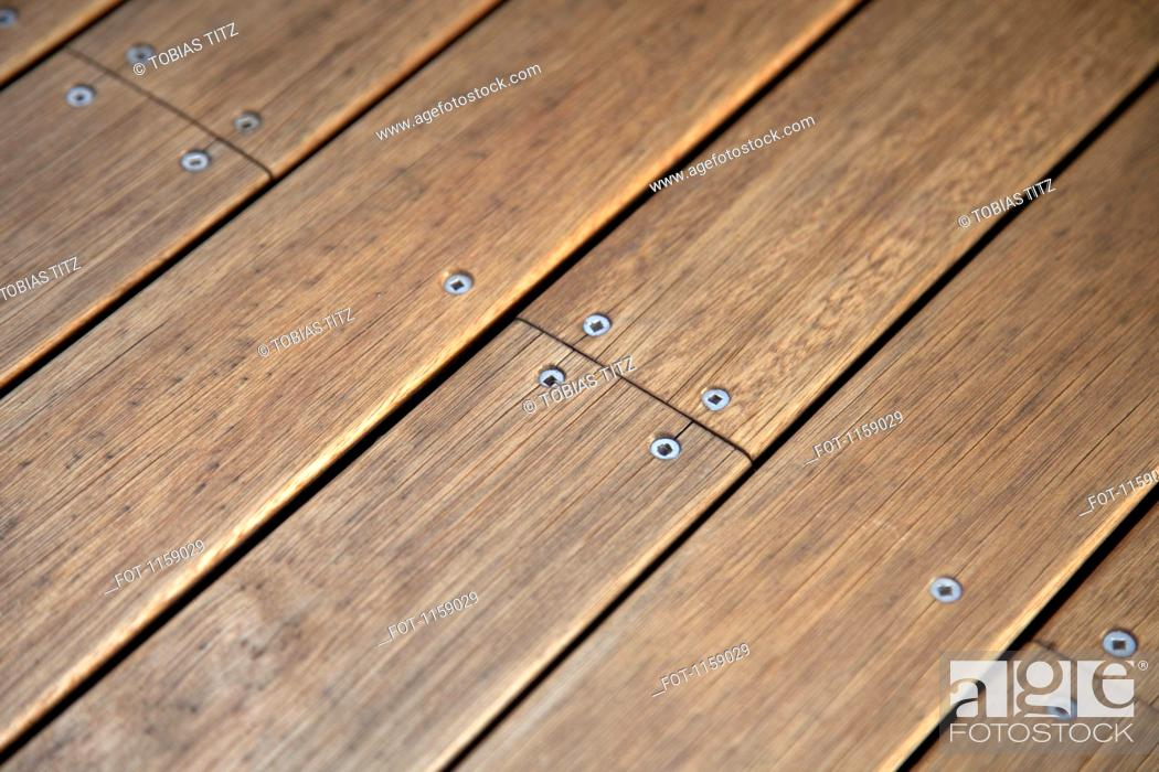Stock Photo: Jetty wood planks.