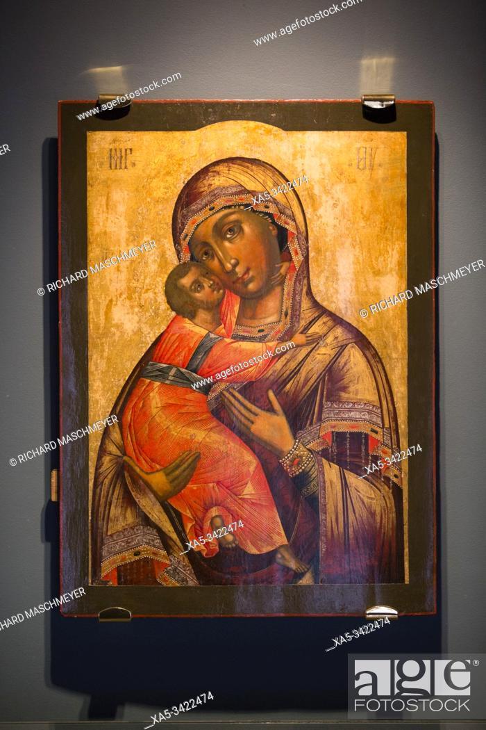 Stock Photo: Our Lady of Vladimir (XVIII Century), Museum, Monastery of St Ipaty, Kostroma, Kostroma Oblast, Russia.