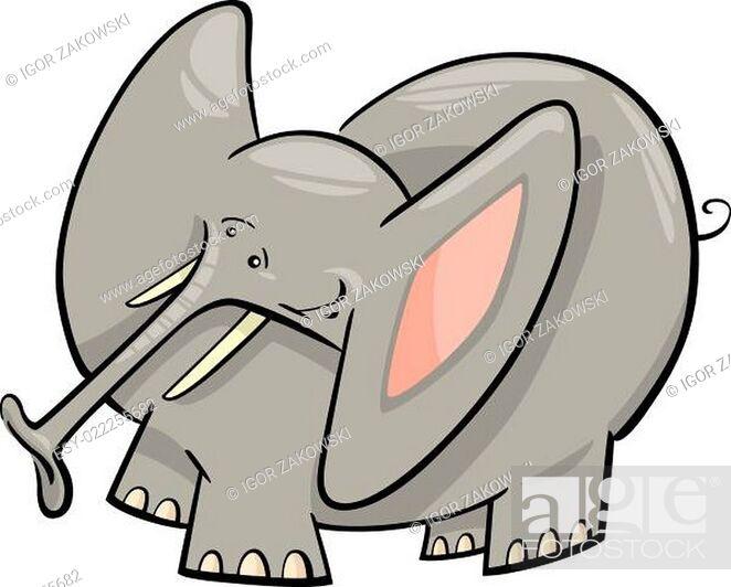 Stock Photo: Elephant Cartoon.