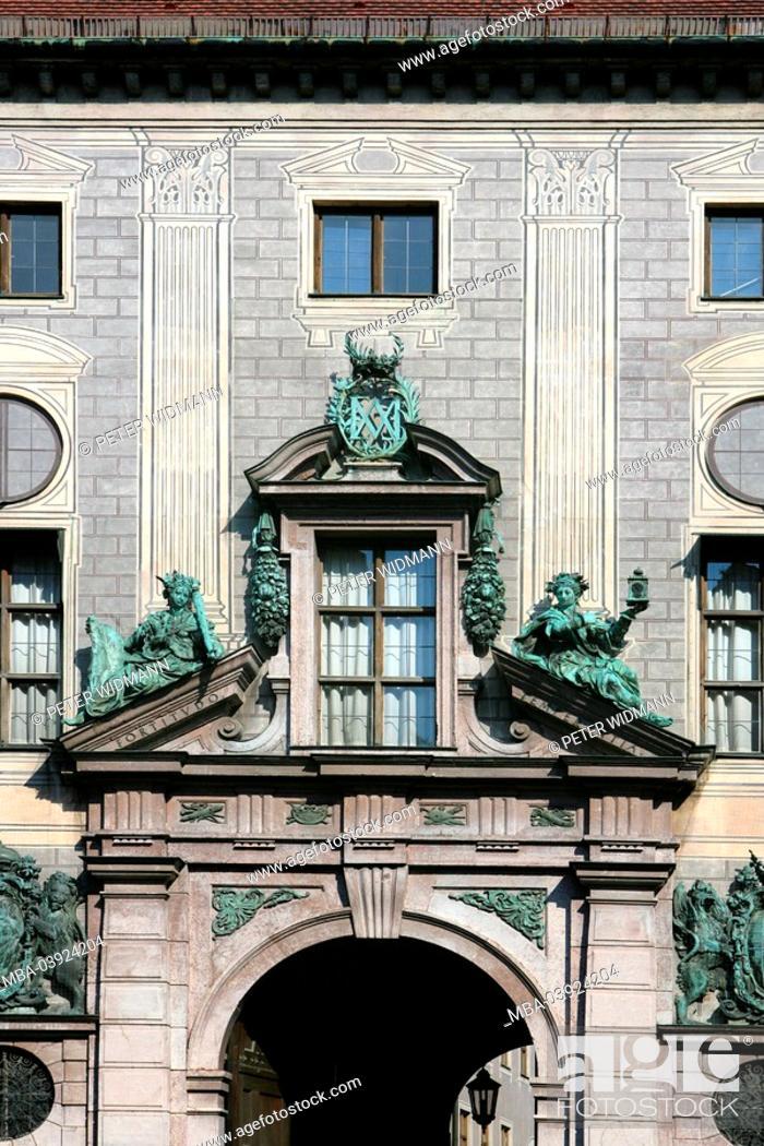 Stock Photo: Germany, Bavaria, Munich, residence, facade,.