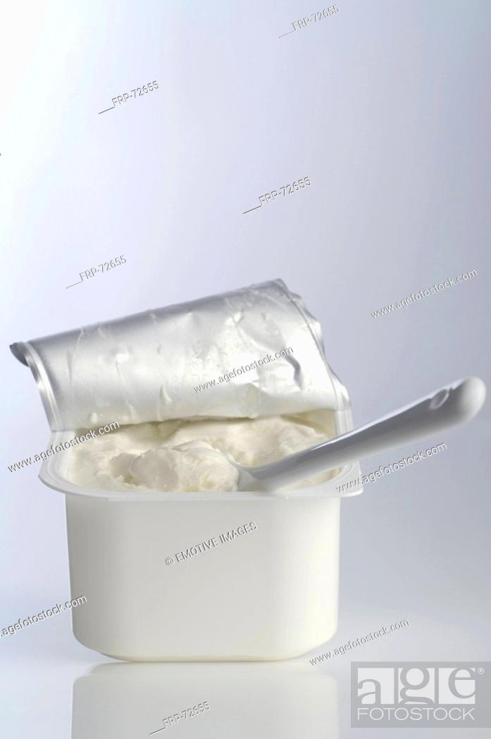 Stock Photo: Tub of curd.