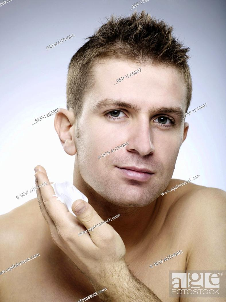 Stock Photo: Young man's portrait.