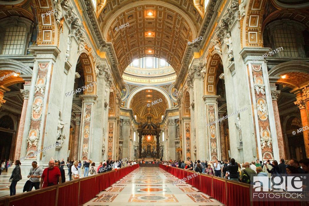 Stock Photo: St Peter's cathedral Vaticane Rome Lazio Italy Stato della Citta del Vaticano.