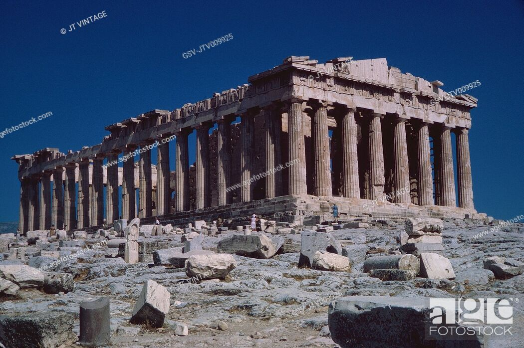Imagen: Ancient Parthenon and Ruins, Athens, Greece, 1962.