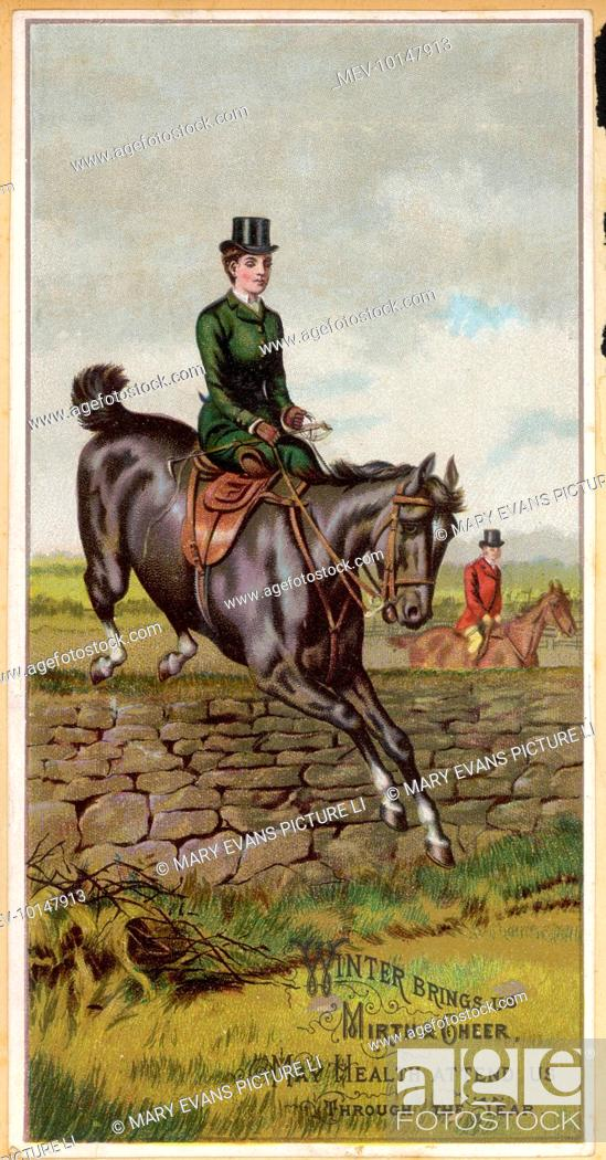 1dc063ad034f Stock Photo - A lady riding sidesaddle.