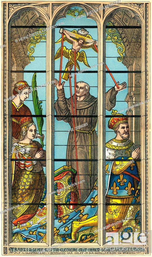 Photo de stock: Francis I, King of France and his wife Eleanor of Austria Cathedral of St. Michael and St. Gudula, Brussels, Belgium.