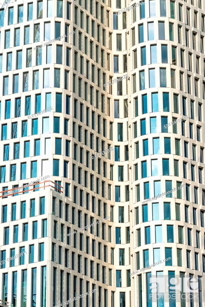 Stock Photo: Detail of a modern skyscraper seen in Berlin, Germany.