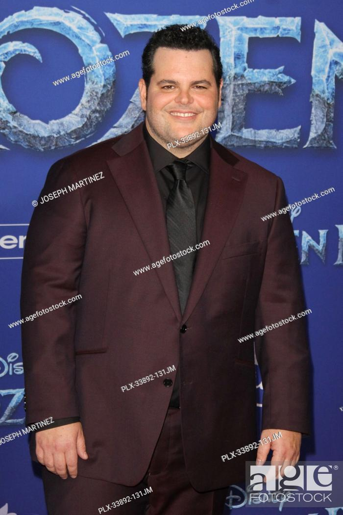 """Stock Photo: Josh Gad at Disney's """"""""Frozen II"""""""" World Premiere held at the Dolby Theatre in Hollywood, CA, November 7, 2019. Photo Credit: Joseph Martinez / PictureLux."""