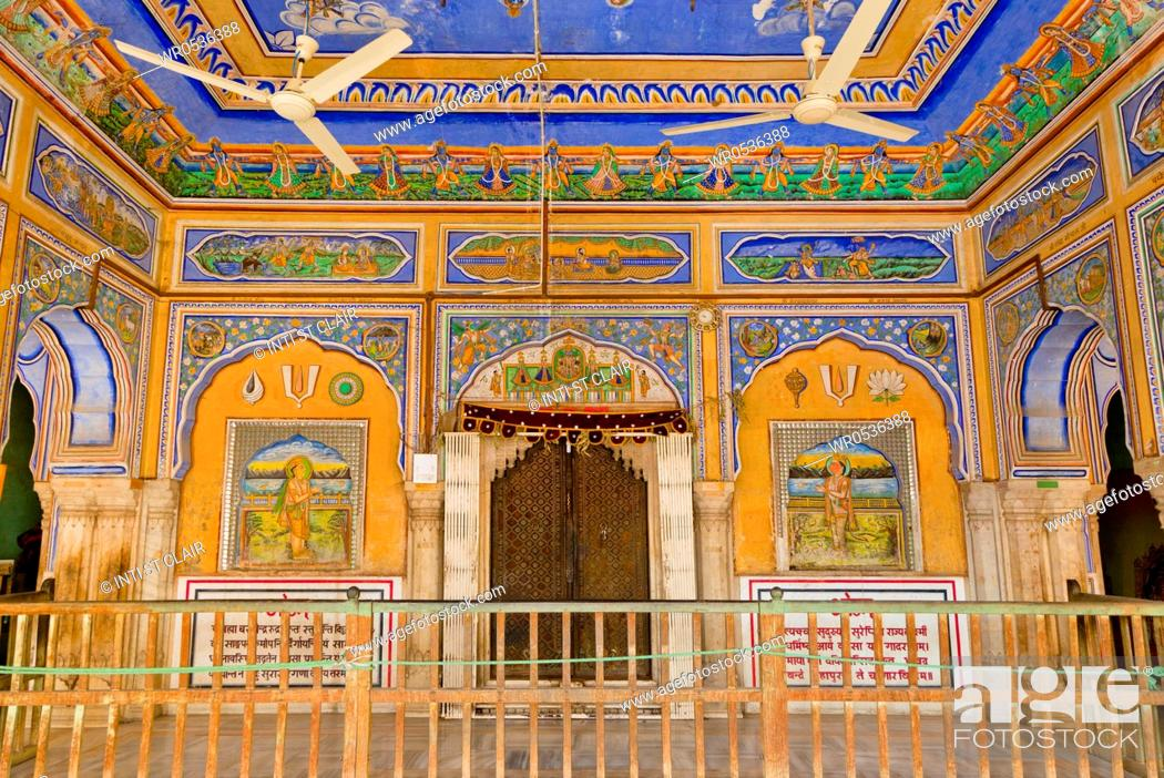 Stock Photo: Colorful Palace Interior.