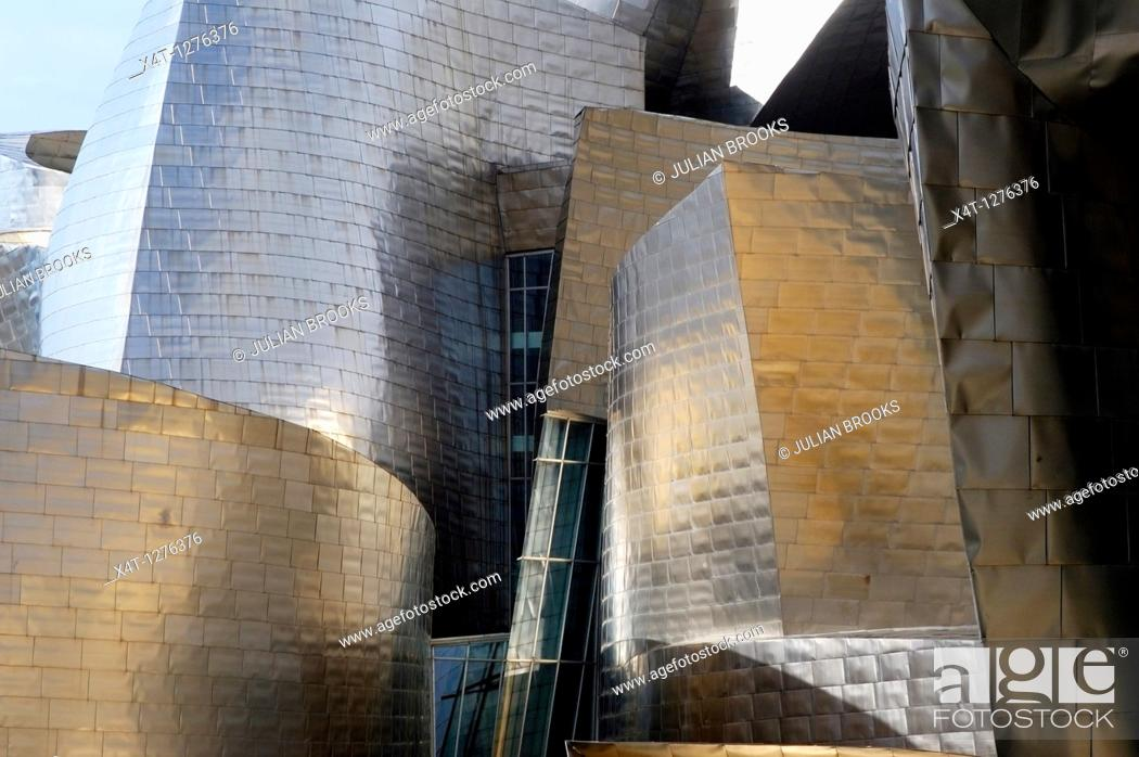 Stock Photo: The Guggenheim Museum Bilbao, Spain.